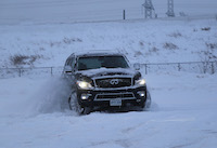 infiniti qx80 blue snow