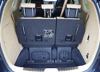 kia sedona third row upright