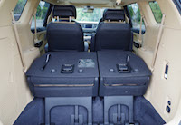kia sedona third row folded