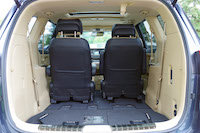 kia sedona rear seats folded down