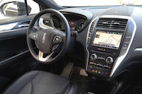 lincoln mkc steering wheel interior black