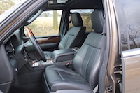 lincoln navigator front leather seats
