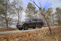 lincoln navigator in the forest