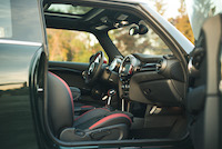 mini jcw black red interior