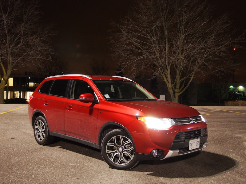 mitsubishi outlander gt s-awc rally red 2015