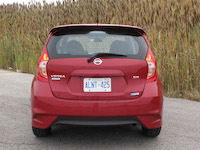 2015 nissan versa note sr red rear