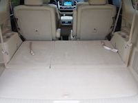 toyota highlander hybrid trunk seats folded