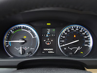 toyota highlander hybrid gauges