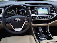 toyota highlander hybrid beige leather