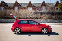 volkswagen golf gti red