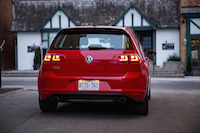 volkswagen golf gti red rear
