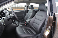 volkswagen jetta front leather seats