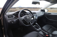 volkswagen jetta diesel black piano leather interior