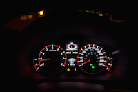 acura ilx a-spec red gauges night