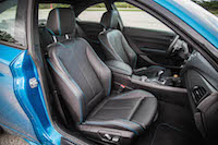 2016 BMW M2 front leather seats