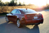 cadillac ats coupe red rear