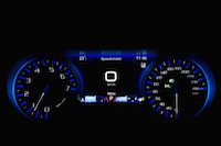 2016 Chrysler 300S blue gauges tach speedo