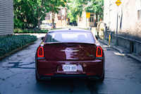 2016 Chrysler 300S rear view exhausts