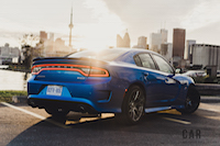 2016 Dodge Charger SRT 392 rear view toronto skyline