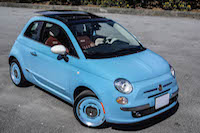 2016 Fiat 500 1957 Edition baby blue colour
