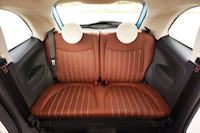 2016 Fiat 500 1957 Edition rear leather seats