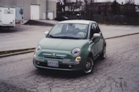 Fiat 500 1957 Edition green body white roof