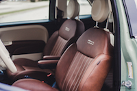 Fiat 500 1957 Edition leather seats