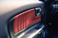2016 Ford Mustang EcoBoost Convertible door panel soft leather