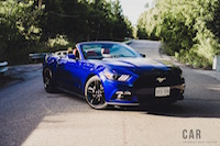 2016 Ford Mustang EcoBoost Convertible front view