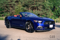 2016 Ford Mustang EcoBoost Convertible deep impact blue