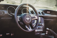 2016 Ford Mustang EcoBoost Convertible steering wheel