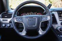 2016 GMC Yukon Denali black steering wheel