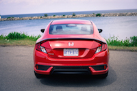 2016 Honda Civic Coupe LX rear view spoiler