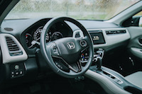 honda hr-v white interior