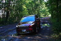 2016 Jeep Cherokee Overland red paint offroading