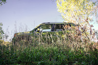 Jeep Renegade 75th Anniversary Edition camouflage in bushes