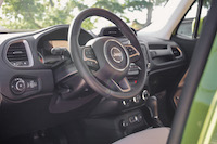 Jeep Renegade 75th Anniversary Edition interior steering wheel