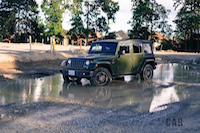 Jeep Wrangler Sahara 75th Annivesary Edition off-road puddle mud