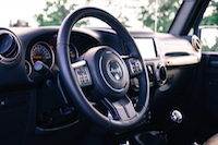 Jeep Wrangler Sahara 75th Annivesary Edition interior steering wheel