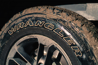 Jeep Wrangler Sahara 75th Annivesary Edition muddy wheels tires