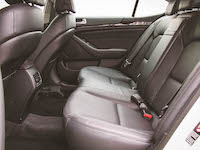 kia cadenza rear seats