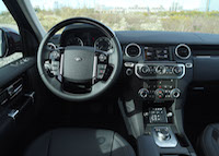 land rover lr4 interior black