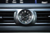 2016 Lexus GS F analog clock