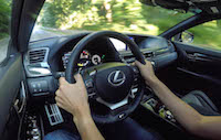 2016 Lexus GS F driving view pov