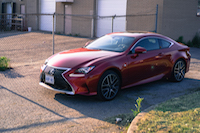 2016 Lexus RC 300 AWD F Sport red front view