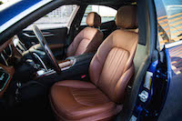 2016 Maserati Ghibli S Q4 brown leather front seats