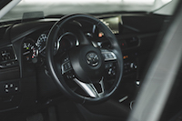 2016 Mazda6 GT interior steering wheel