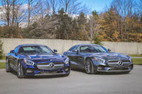 2016 Mercedes-AMG GT S blue and gray