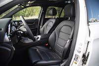 2016 Mercedes-Benz GLC 300 4MATIC black interior front leather seats