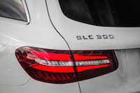 2016 Mercedes-Benz GLC 300 4MATIC taillights and badge